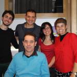 Carlos Paul con el equipo de ACULCO Media