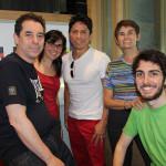 Jair Ramirez con el equipo de ACULCO Media 2