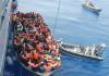 Inmigrantes en el Mediterráneo. Imagen de archivo.