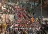 Marcha Central Obrera Boliviana. Imagen de archivo.