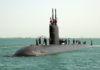 Un submarino británico sufre daños externos. Imagen de archivo.