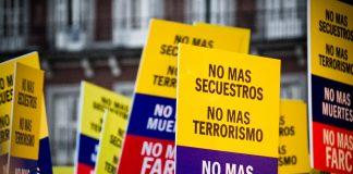 Protesta contra las FARC. Imagen de archivo.