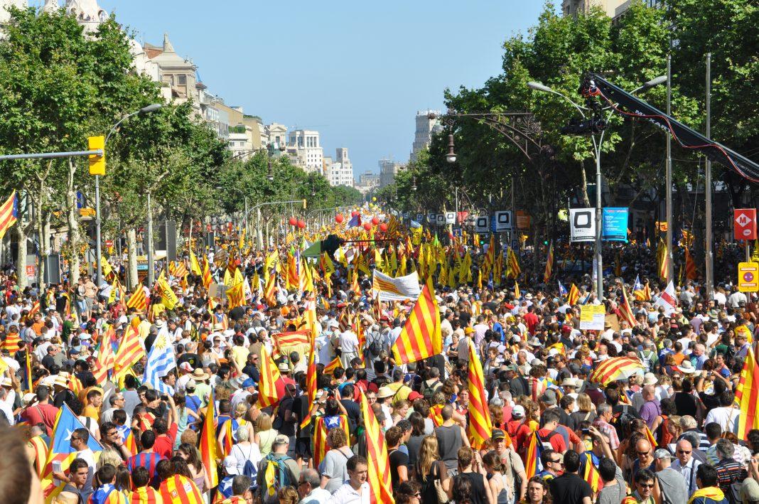 Manifestación por la independencia de Cataluña. Imagen de archivo.