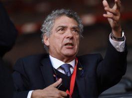 Ángel María Villar, presidente de la Federación Española de Fútbol. Los Pleyers.