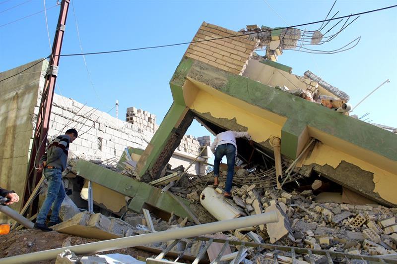 Edificio dañado tras el terremoto entre la frontera de Irán e Irak. La Patilla.