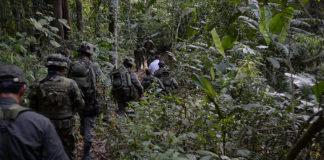 Policía Nacional colombiana trabajando. Imagen de archivo.