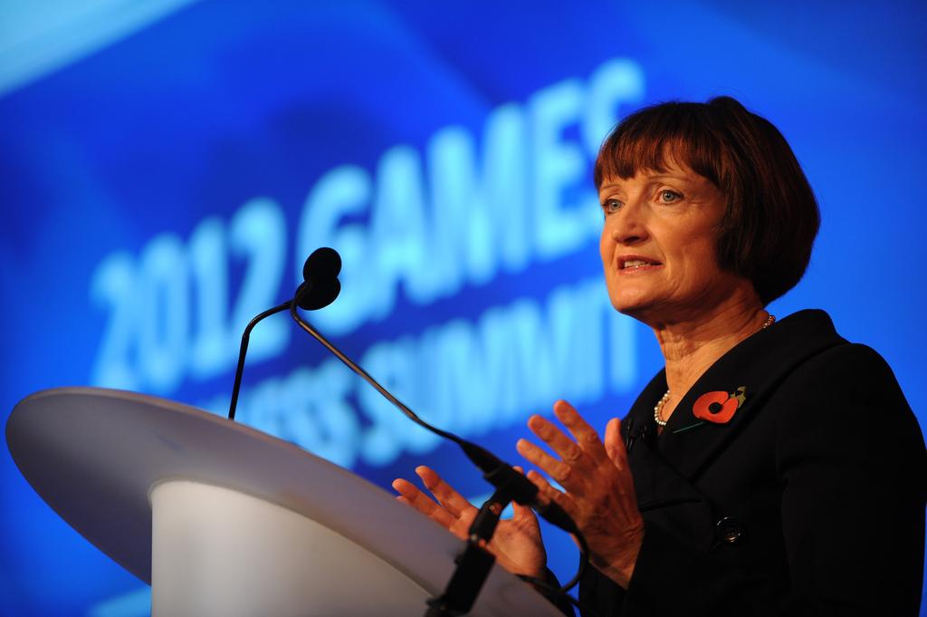 Tessa Jowell, durante su etapa como ministra de los Juegos Olímpicos. Imagen de archivo.