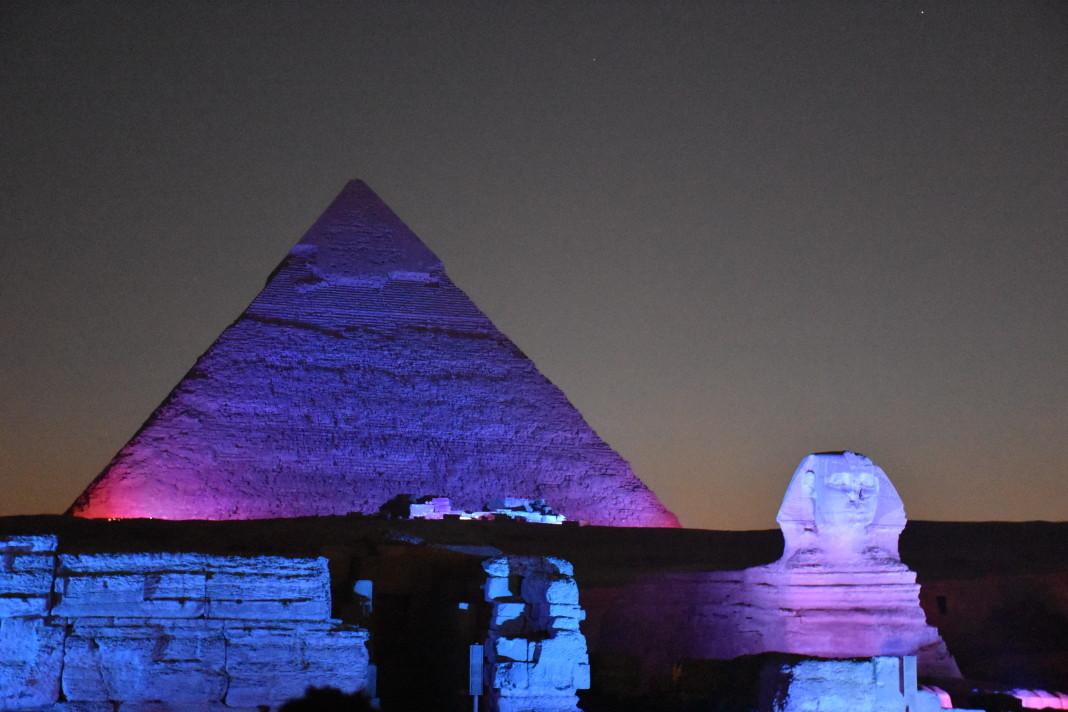 Espectáculo Lumiere en Giza