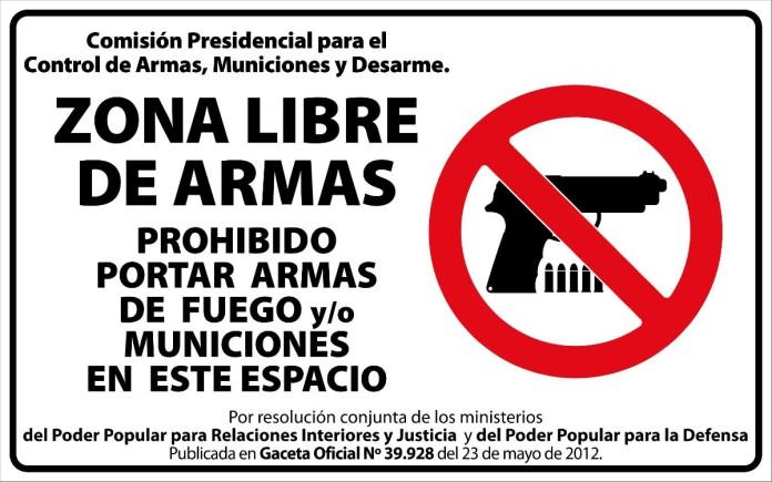 Prohibido portar armas