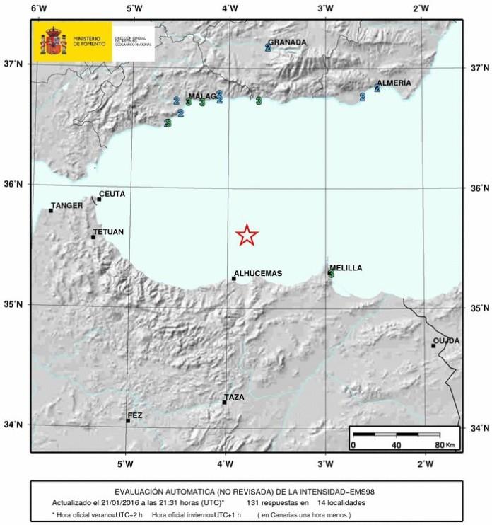Un terremoto de 6,3 grados sacude Andalucía y Melilla