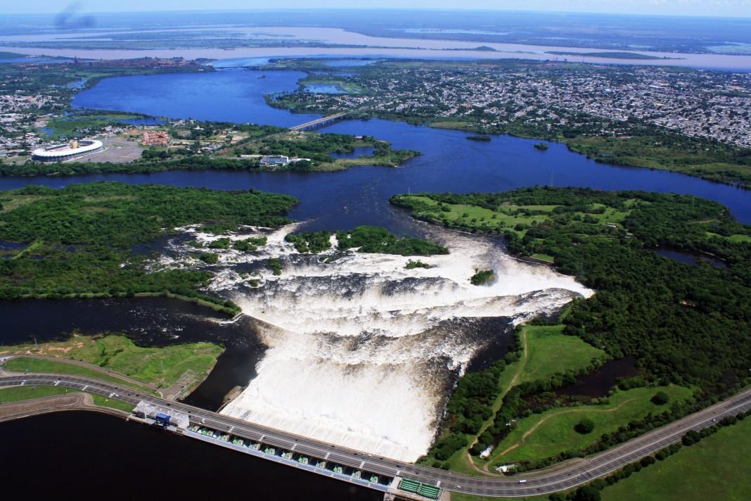 Embalse de Macagua, una de las represas más importantes de Venezuela.