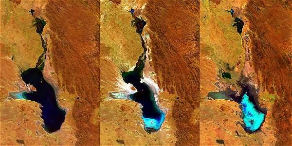 Lago Poopó Foto@ESA