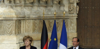 Ángela Merkel y François Hollande