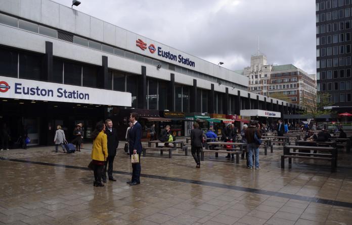 Caos en la estación de Euston.