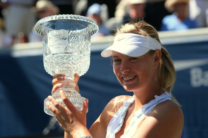 Sharapova reconoció dar positivo en un control antidopaje.