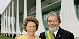Lula Da Silva, expresidente de Brasil, junto a su esposa.