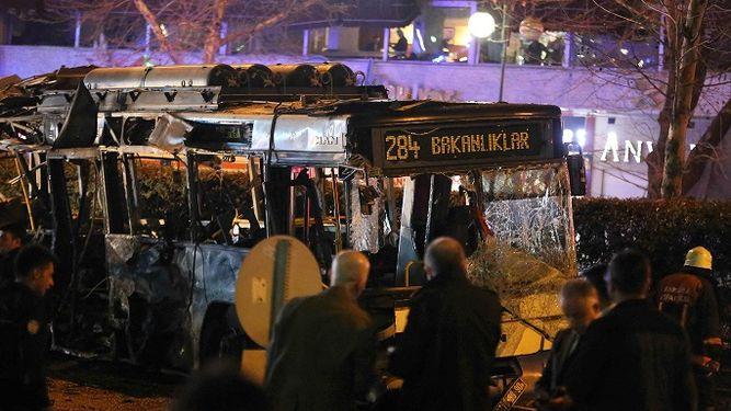 El atentado fue en el centro de Ankara. www.prensa.com