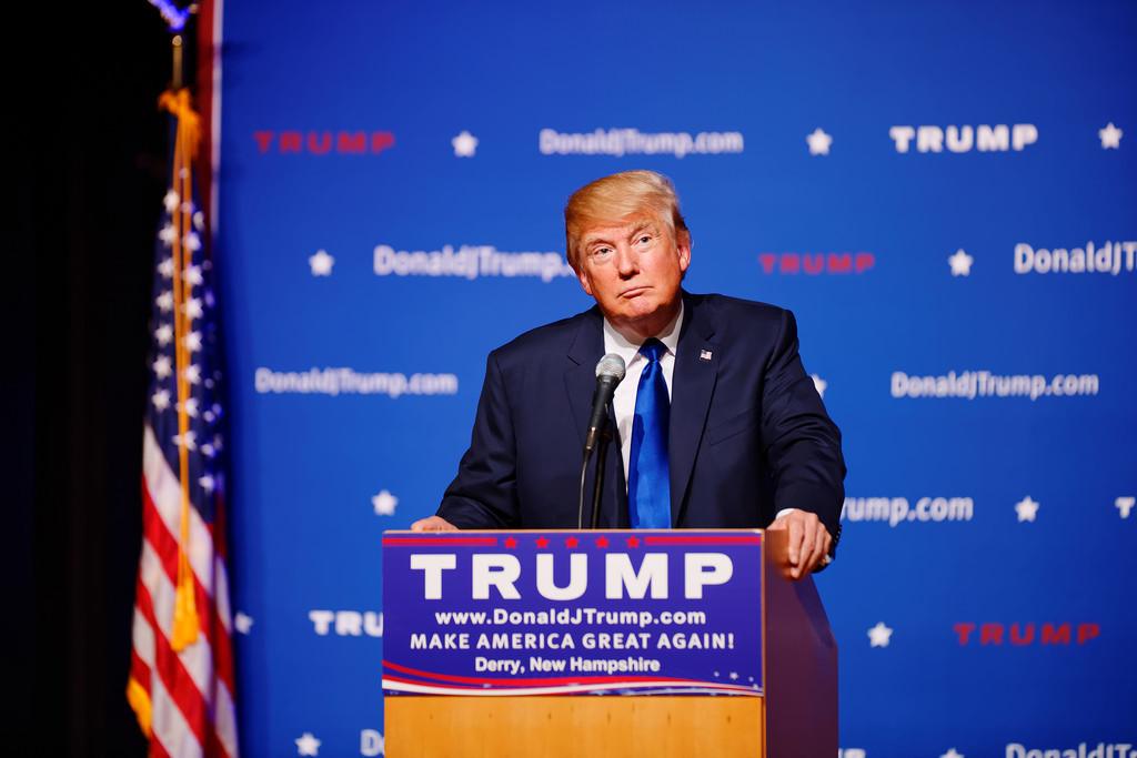 El precandidato republicano Donald Trump.