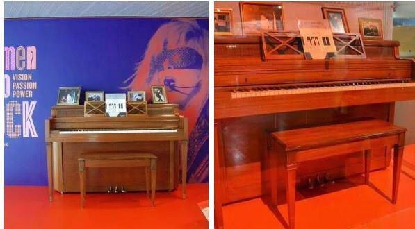 Subastan el primer piano de Lady Gaga