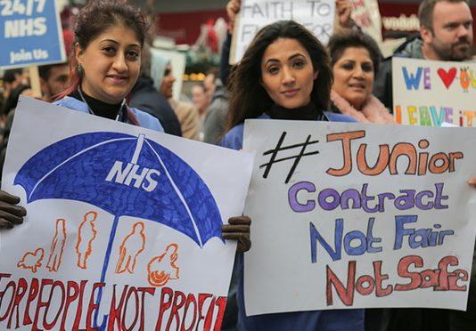 Huelga de los doctores junior del NHS