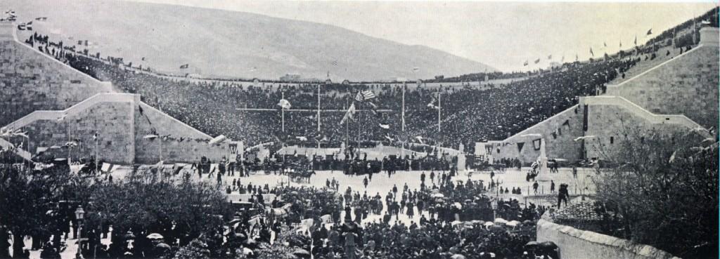 Estadio Panatenaico, primer día de los Juegos Olímpicos de 1896