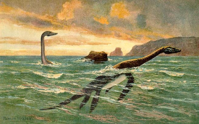 Encuentran la figura de un monstruo de una película de Wilder en el fondo del lago Ness