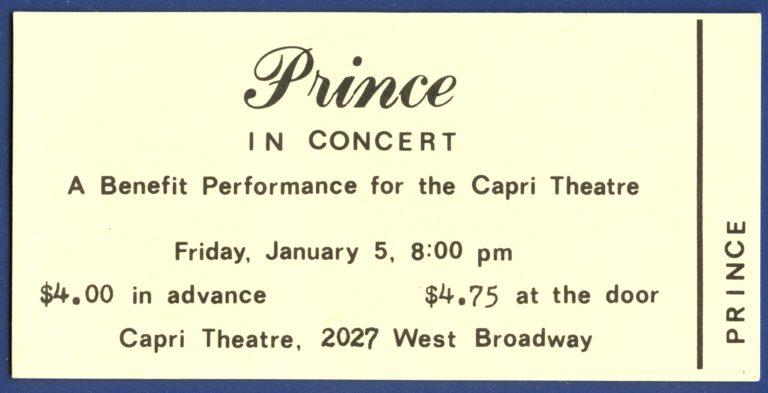Se autoriza el registro de la casa de Prince