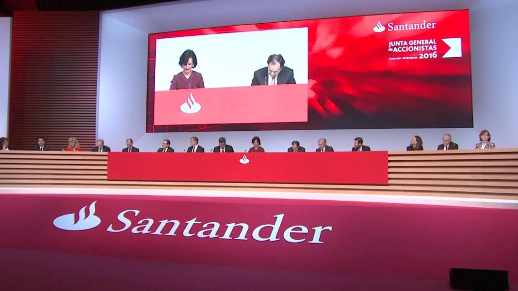 Junta de accionistas del Banco Santander. Imagen de archivo.