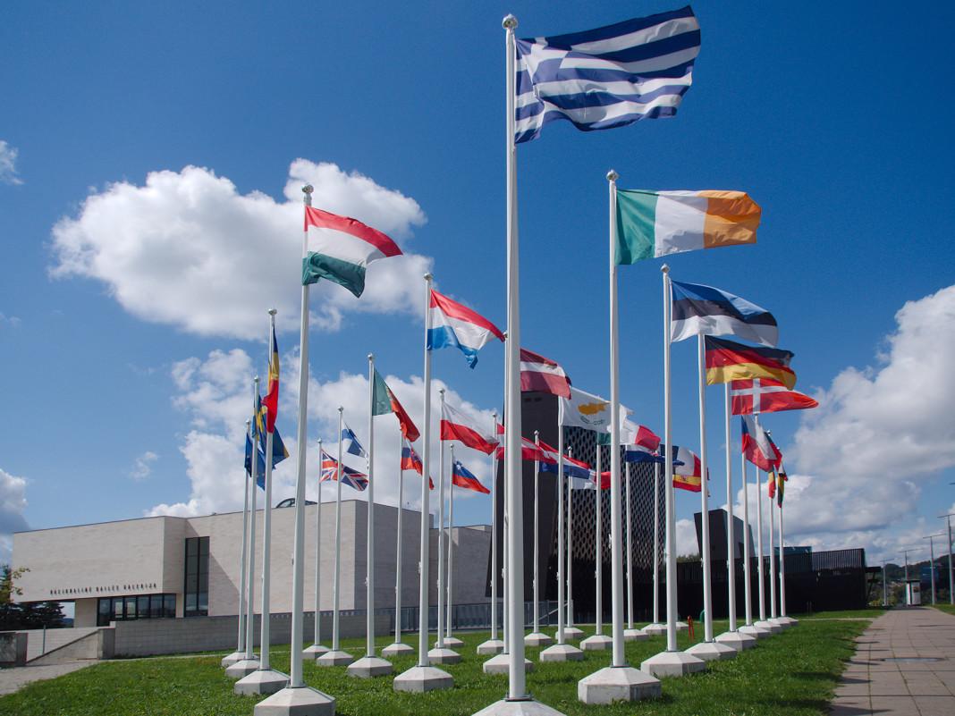 Las banderas de los países de la UE