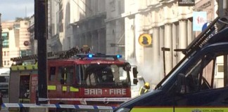 Incendio en el centro de Londres