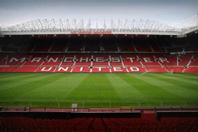 Interior del estadio de Old Trafford