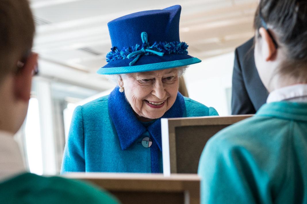 La Reina Isabel ll. Imagen de archivo.