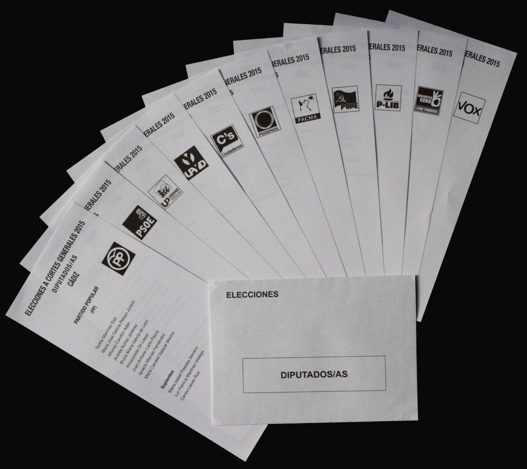 Papeletas electorales de las elecciones del 20 de diciembre de 2015. Imagen de archivo.