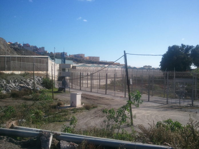 Valla fronteriza de Ceuta