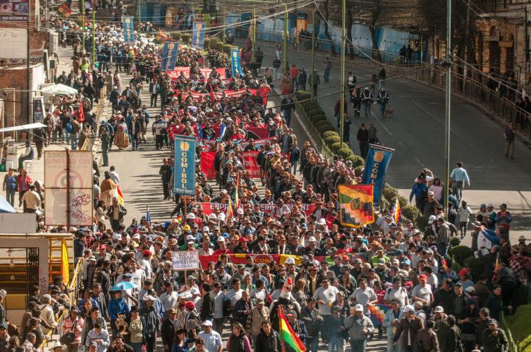 Los sindicatos bolivianos convocan huelga general