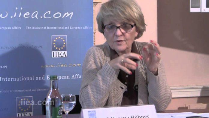 Danuta Hübner, presidenta de la Comisión de Asuntos Constitucionales de la UE.