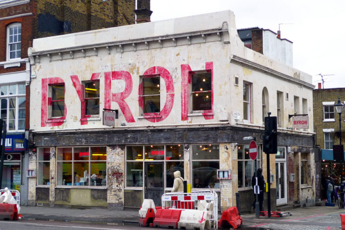 Restaurante Byron de Islington. Imagen de archivo.