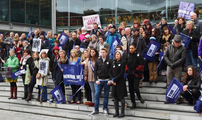 Manifestación de profesores. Imagen de archivo.