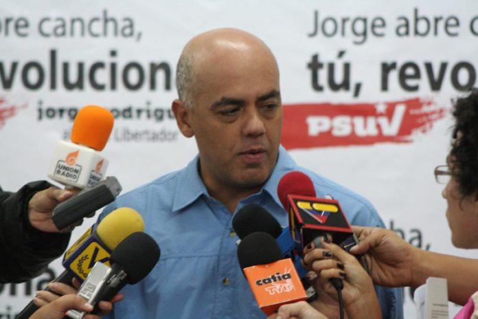 Jorge Rodríguez, alcalde de Caracas. jorgerodriguez.psuv.org.ve