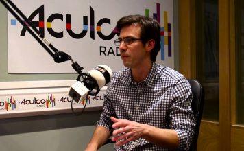 Manuel Alcaíno Pizzani en los estudios de ACULCO Media.