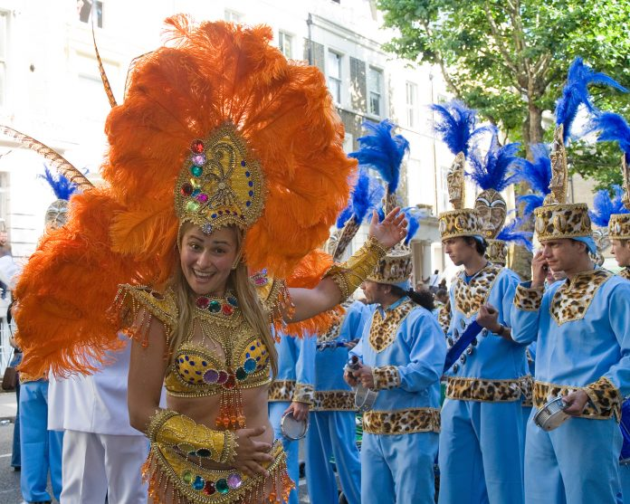 Carnaval de Notting Hill. Imagen de archivo.