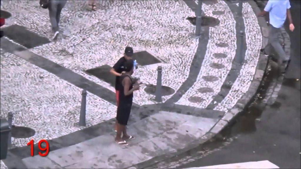 Ladrones actuando en Río de Janeiro. Youtube.