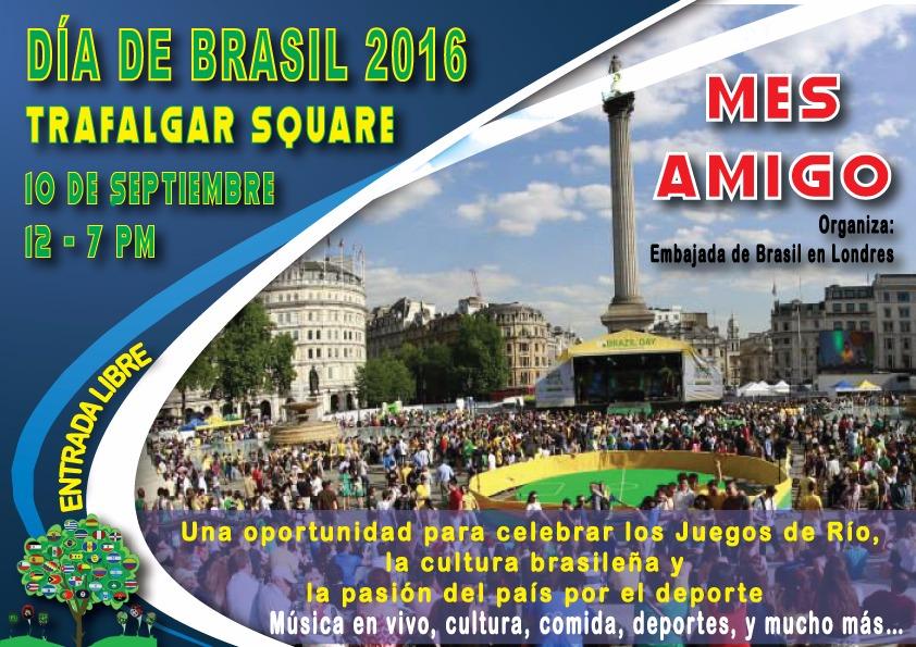 Celebra el día de Brasil en Londres.