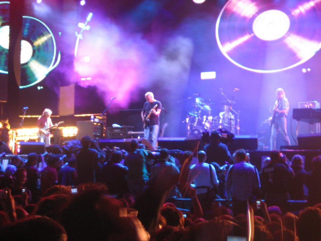 Pink Floyd durante un concierto. Imagen de archivo.