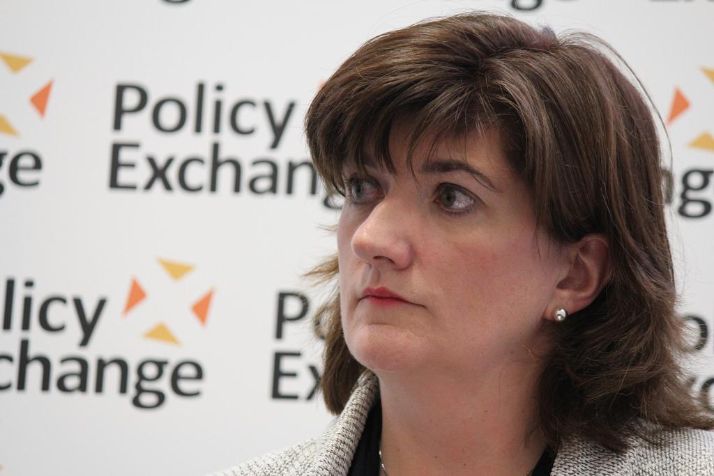 La exsecretaria de Educación, Nicky Morgan. Imagen de archivo.