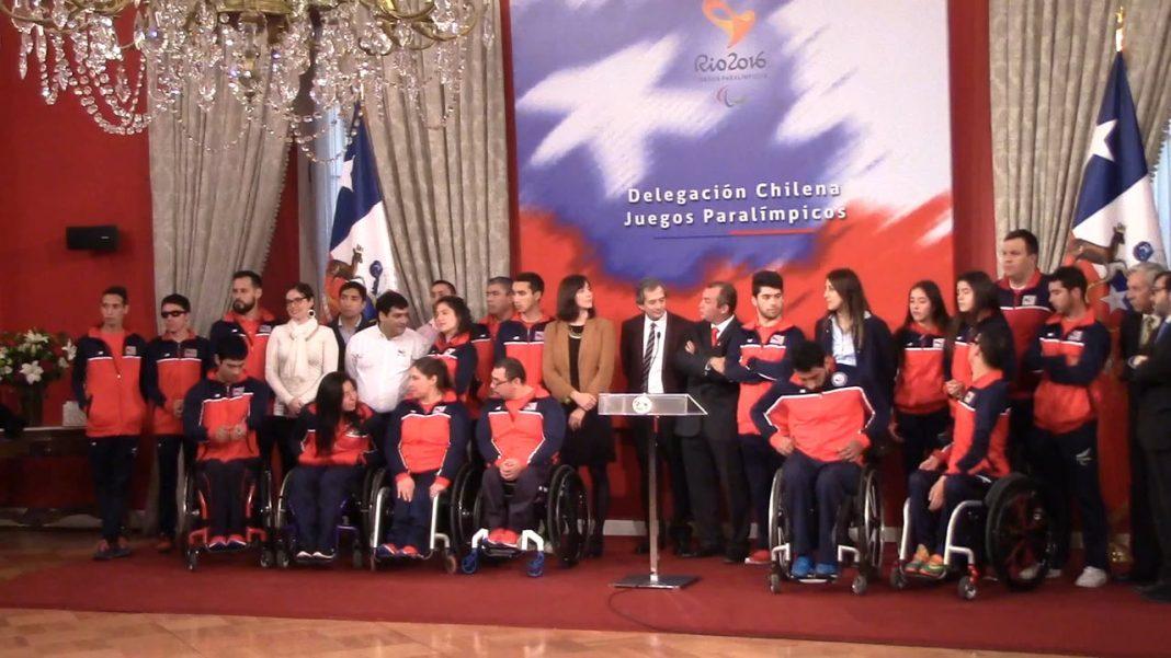 Abanderados paralímpicos chilenos Río 2016. Imagen de archivo.
