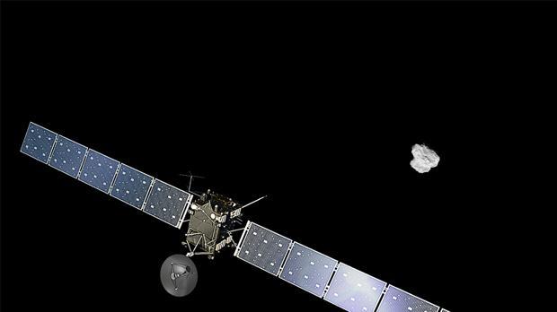 La nave Rosetta aterriza en un cometa