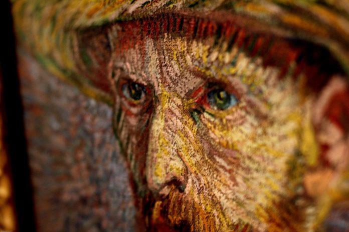 Autoretrato de Van Gogh. Imagen de archivo.