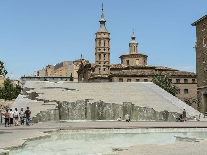 Fuente de la hispanidad, Zaragoza. Imagen de archivo.