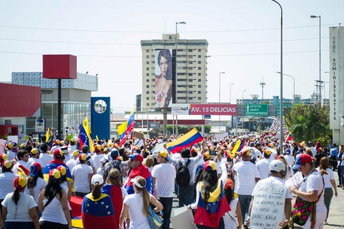 Manifestación en Venezuela. Imagen de archivo.